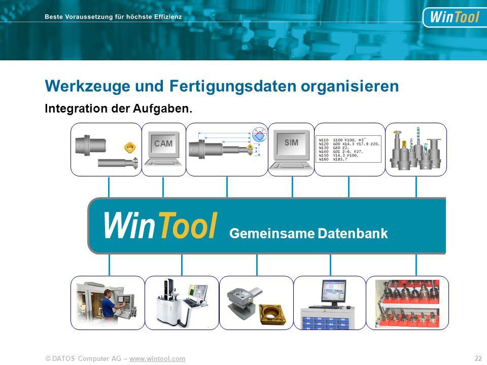 WinTool WinTool Werkzeuge und Fertigungsdaten organisieren