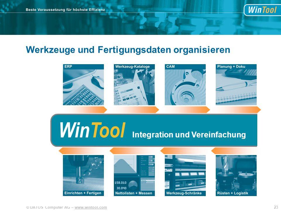 WinTool WinTool WinTool Werkzeuge und Fertigungsdaten organisieren