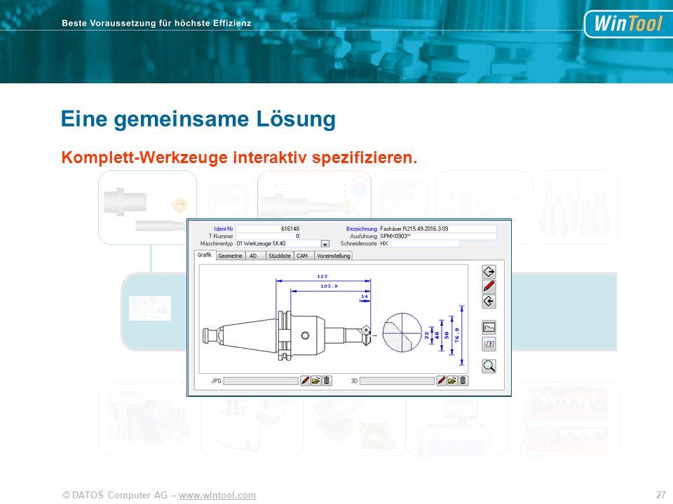 WinTool Eine gemeinsame Lösung Integration und Vereinfachung