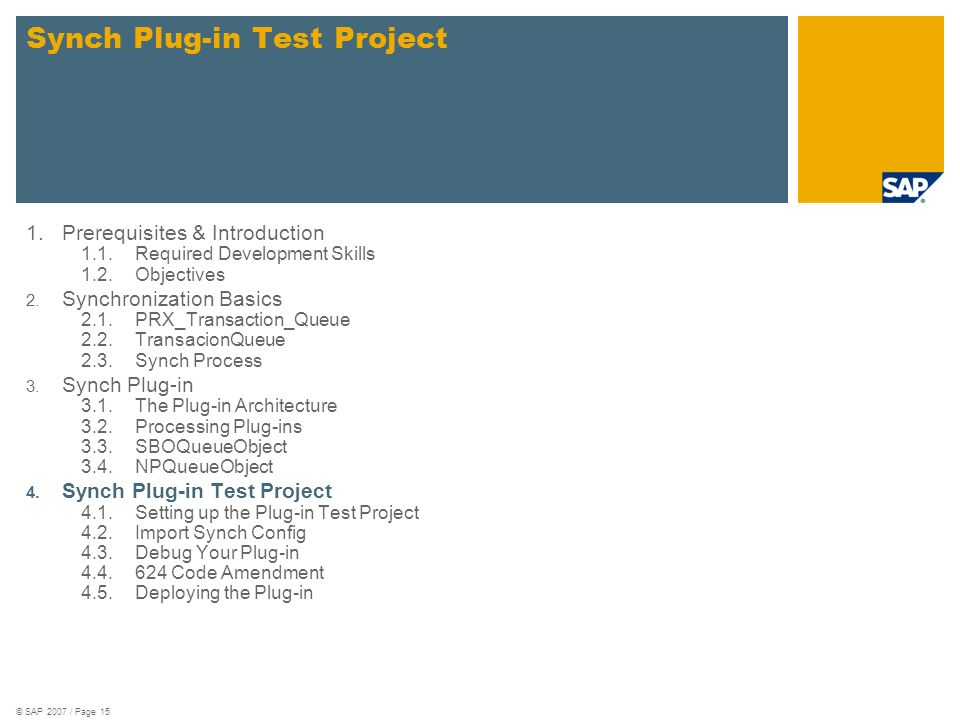 Synch Plug-in Test Project