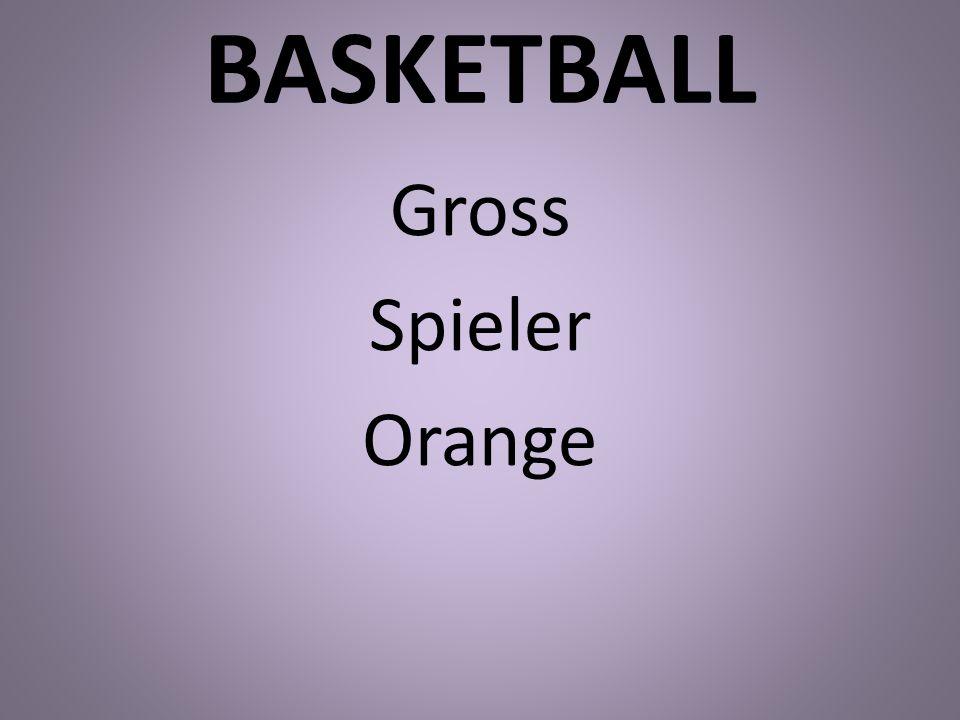 BASKETBALL Gross Spieler Orange