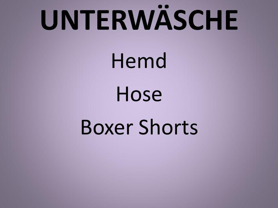 UNTERWÄSCHE Hemd Hose Boxer Shorts