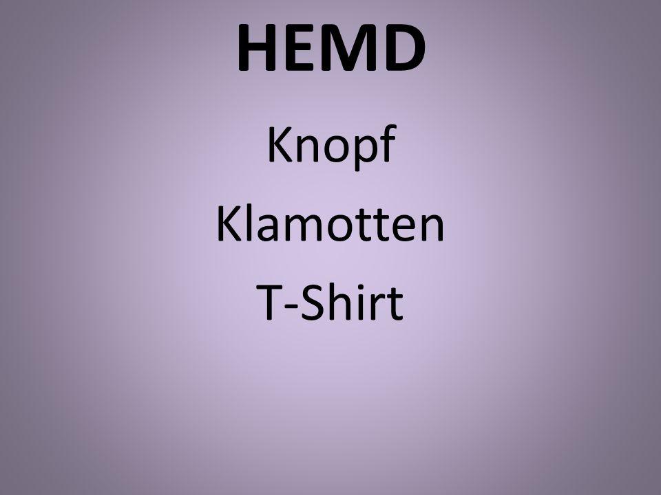 Knopf Klamotten T-Shirt
