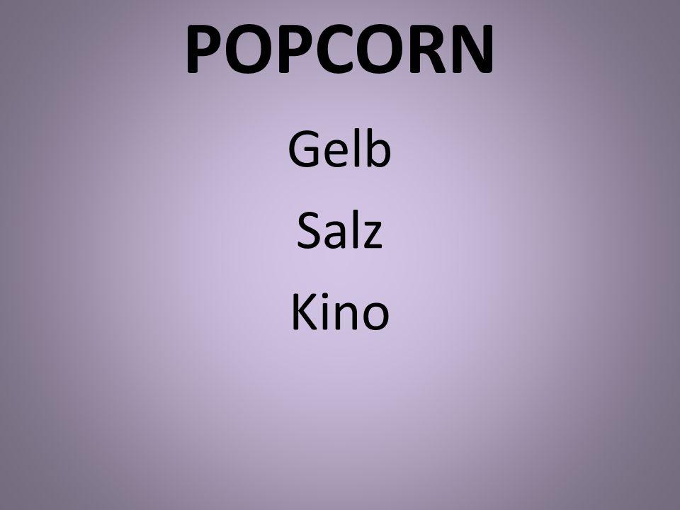 POPCORN Gelb Salz Kino