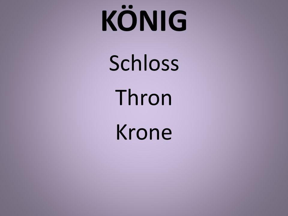 KÖNIG Schloss Thron Krone