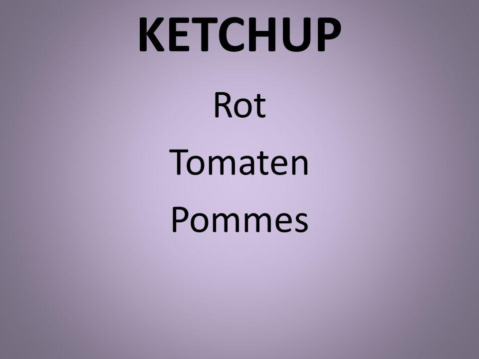 KETCHUP Rot Tomaten Pommes