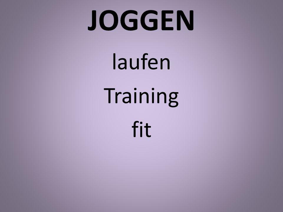 JOGGEN laufen Training fit