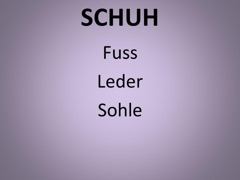SCHUH Fuss Leder Sohle