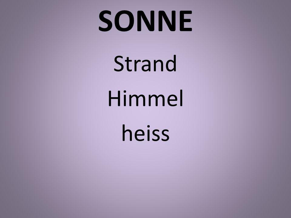 SONNE Strand Himmel heiss
