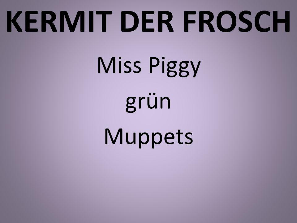 Miss Piggy grün Muppets