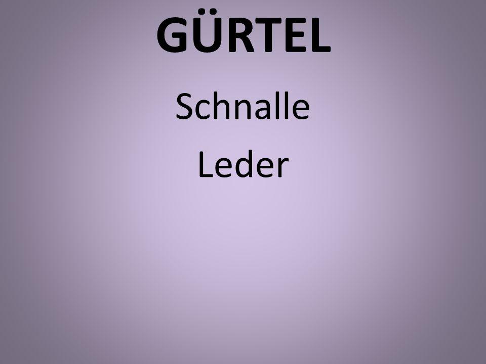 GÜRTEL Schnalle Leder