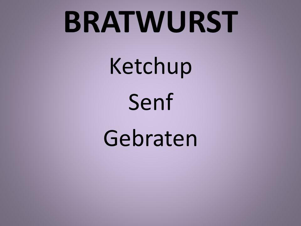 BRATWURST Ketchup Senf Gebraten