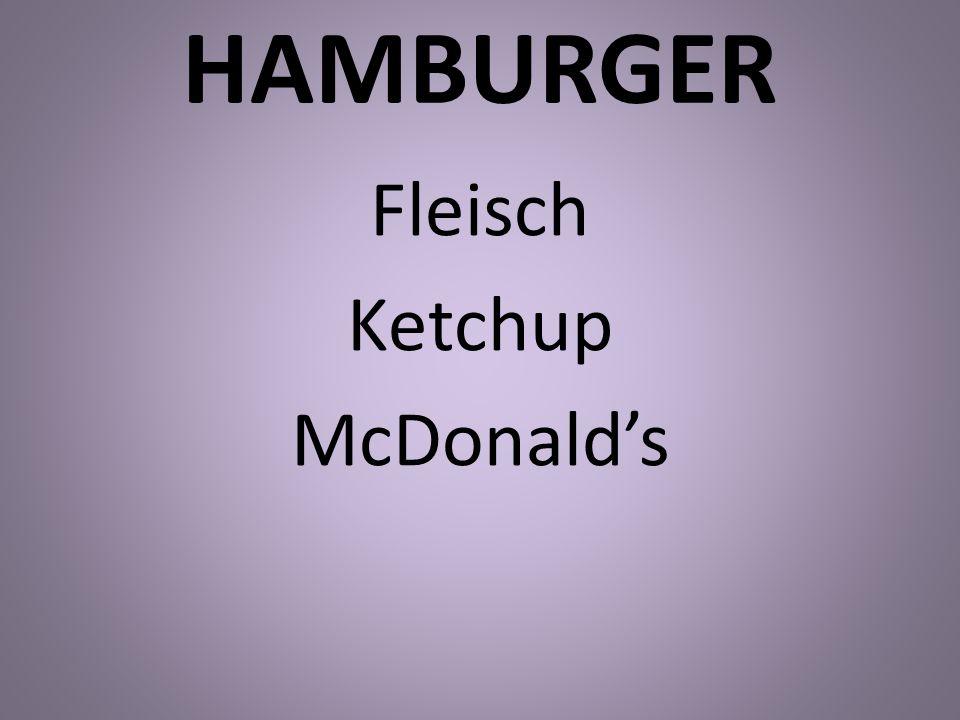 Fleisch Ketchup McDonald's