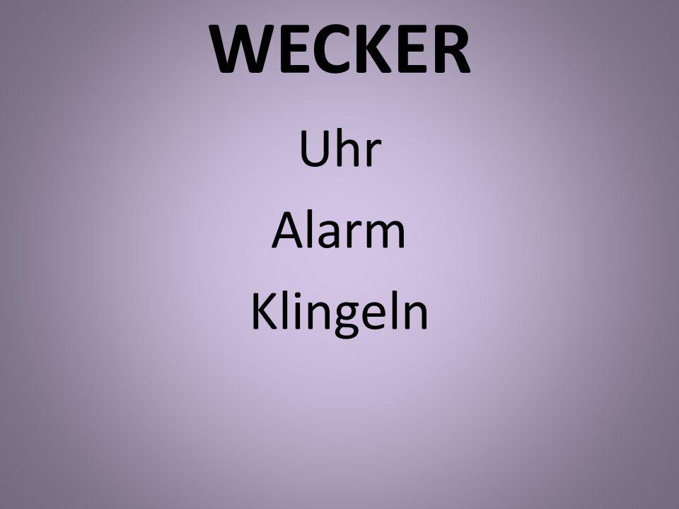 WECKER Uhr Alarm Klingeln