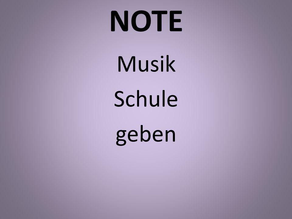 NOTE Musik Schule geben
