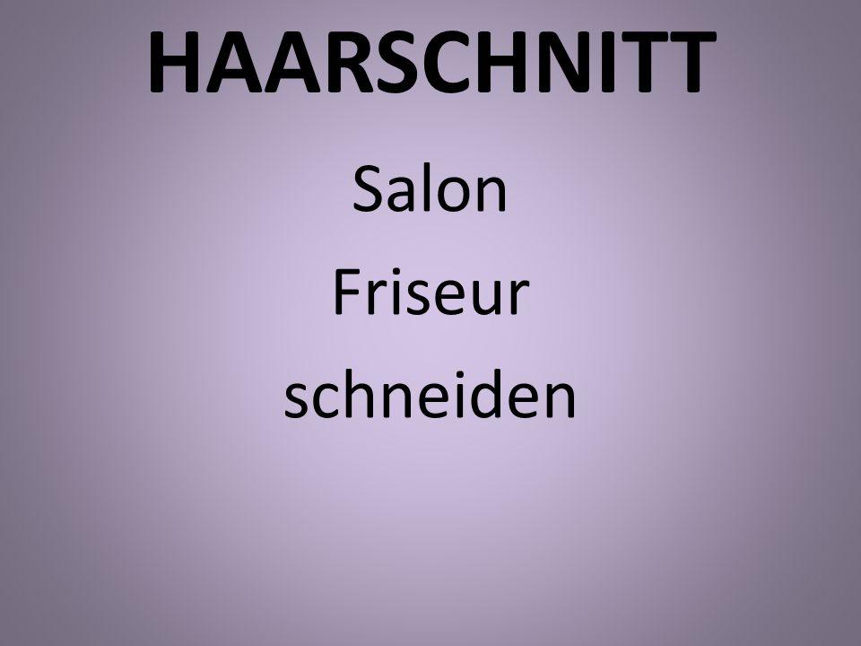 Salon Friseur schneiden