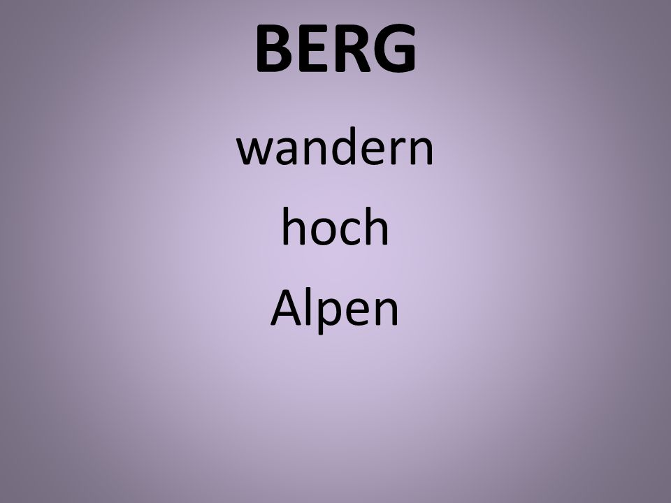 BERG wandern hoch Alpen