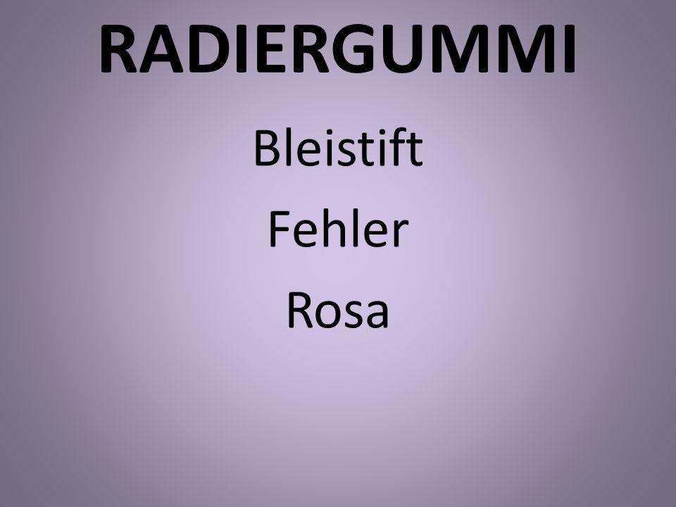 RADIERGUMMI Bleistift Fehler Rosa