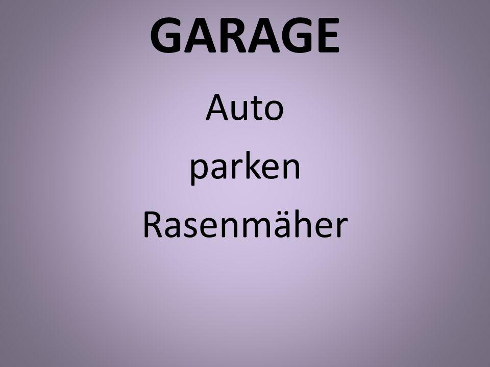 Auto parken Rasenmäher