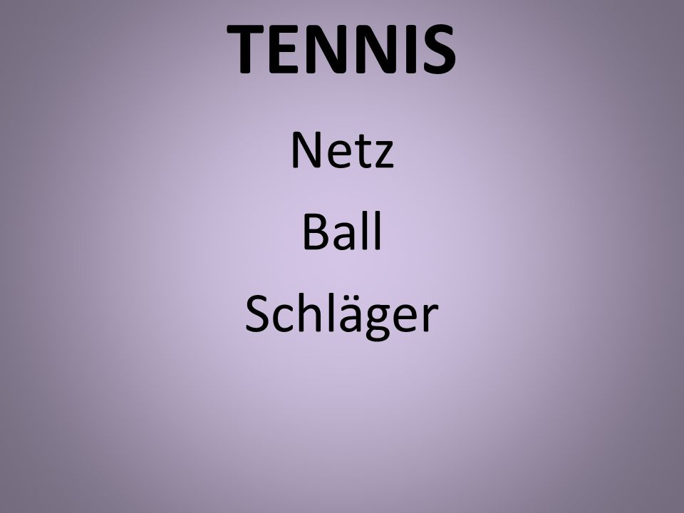 TENNIS Netz Ball Schläger