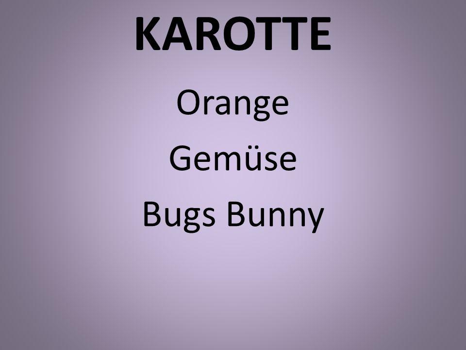 Orange Gemüse Bugs Bunny
