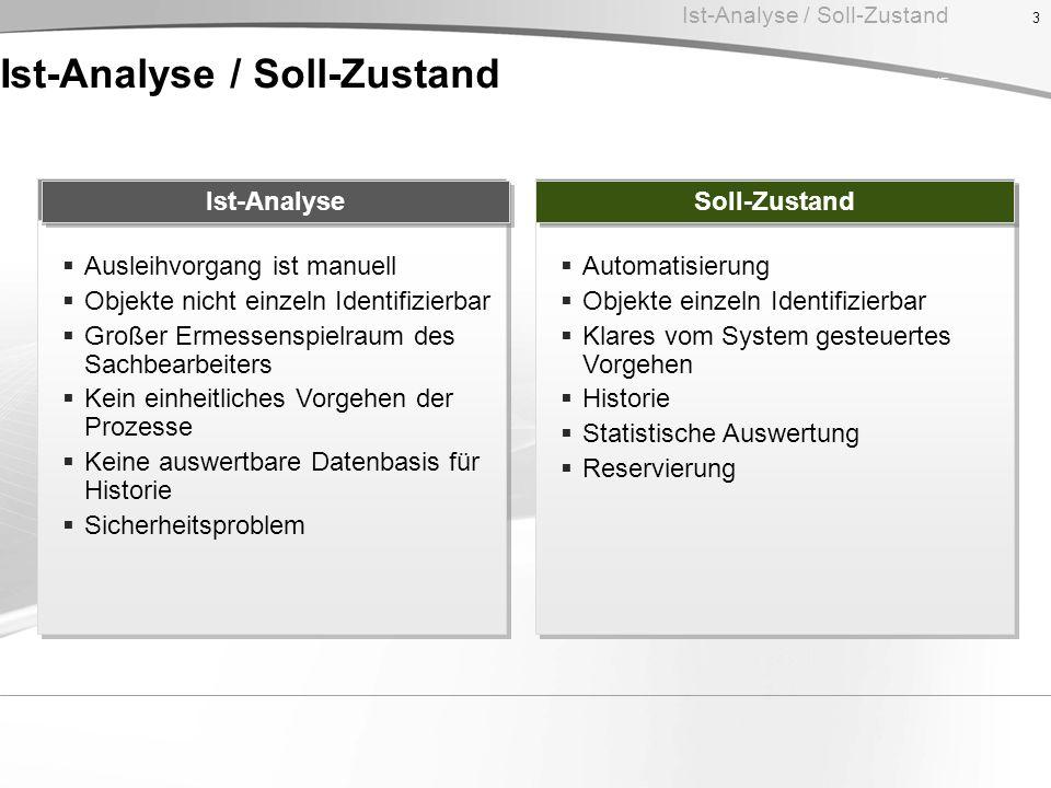 Ist-Analyse / Soll-Zustand