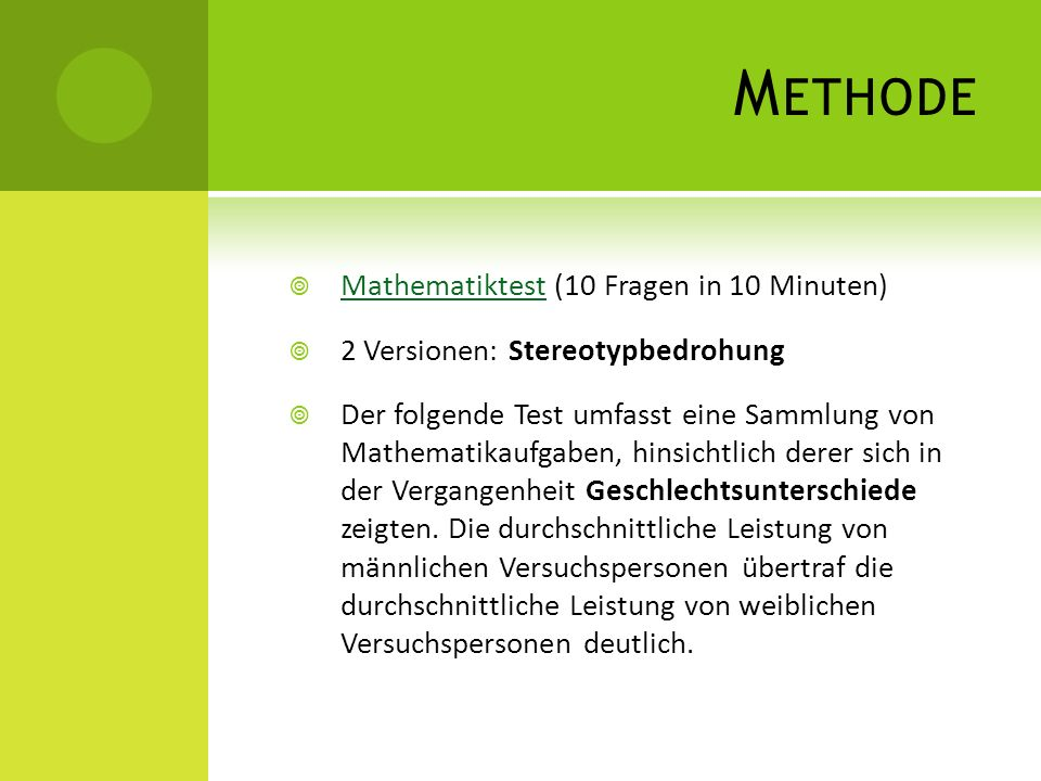 Methode Mathematiktest (10 Fragen in 10 Minuten)