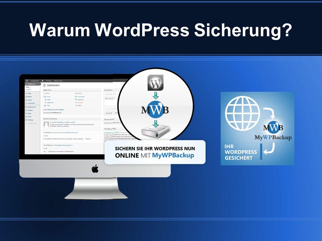 Warum WordPress Sicherung