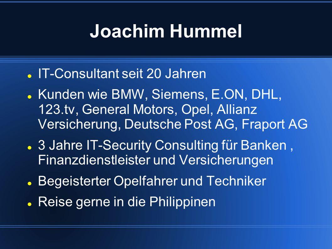 Joachim Hummel IT-Consultant seit 20 Jahren