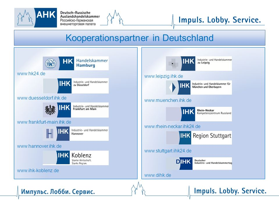 Kooperationspartner in Deutschland