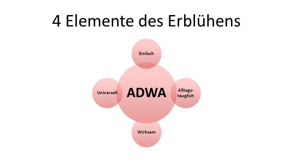 4 Elemente des Erblühens