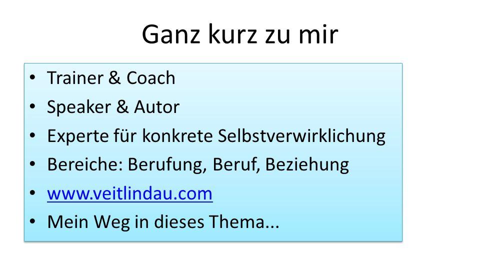Ganz kurz zu mir Trainer & Coach Speaker & Autor