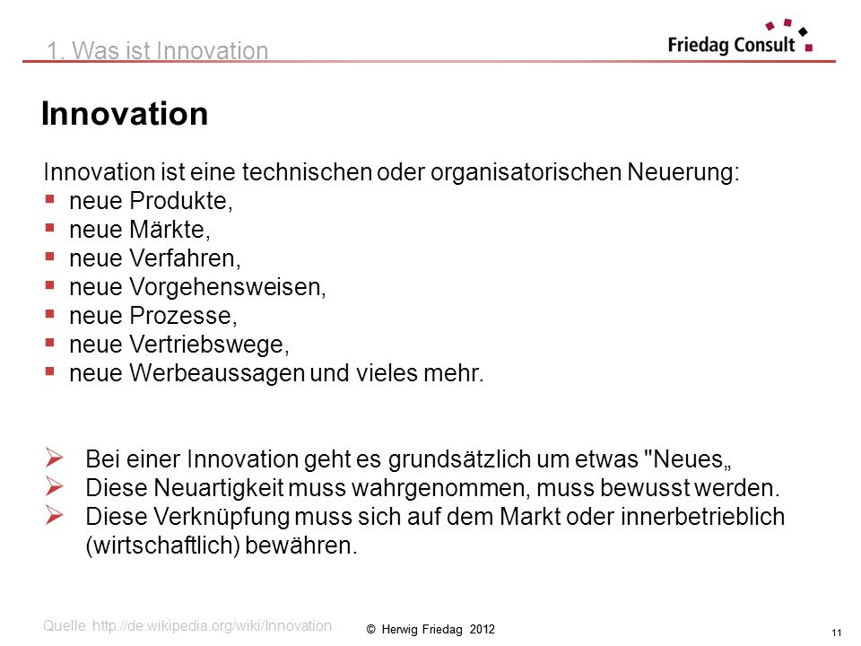 Innovation 1. Was ist Innovation