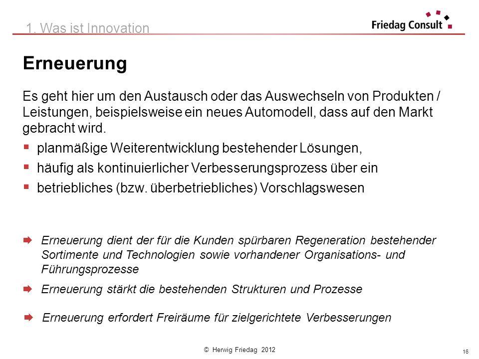 Erneuerung 1. Was ist Innovation