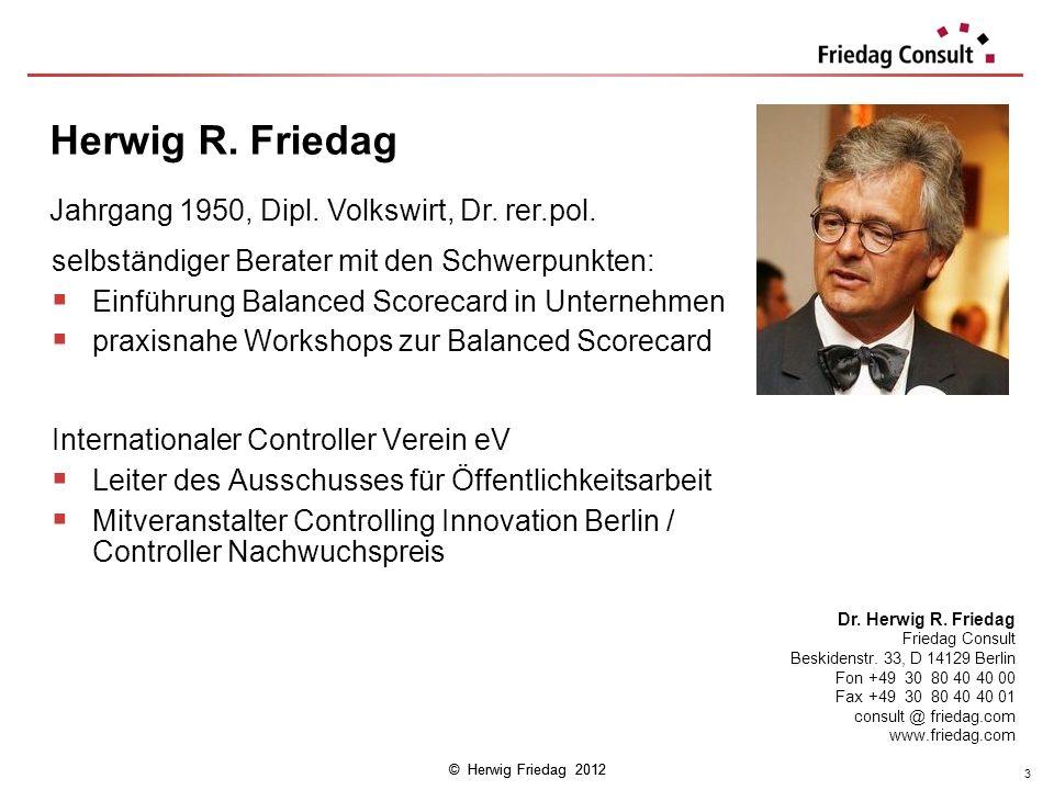 Herwig R. Friedag Jahrgang 1950, Dipl. Volkswirt, Dr. rer.pol.
