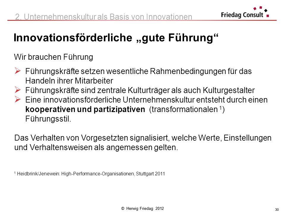 """Innovationsförderliche """"gute Führung"""