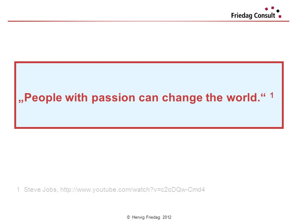 """People with passion can change the world. 1"