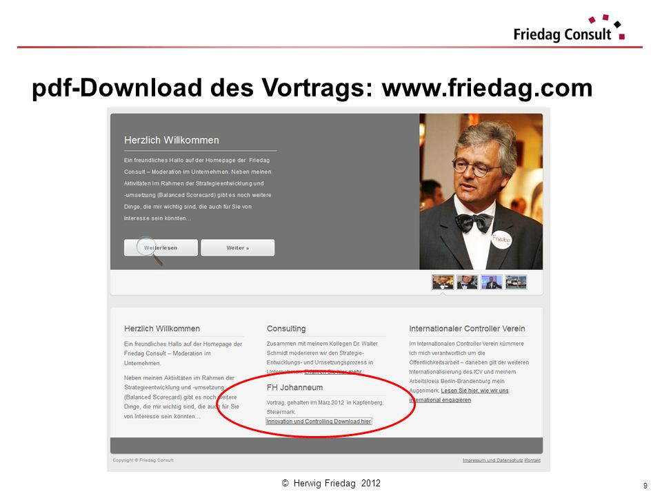 pdf-Download des Vortrags: www.friedag.com