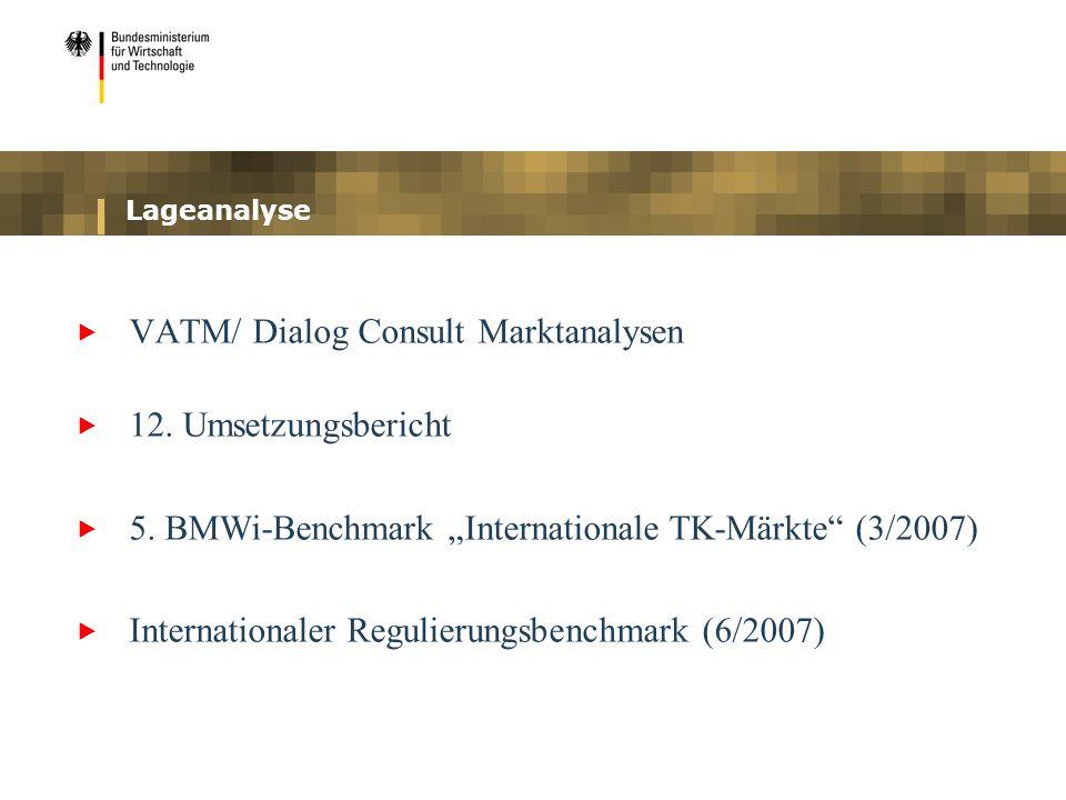 VATM/ Dialog Consult Marktanalysen 12. Umsetzungsbericht