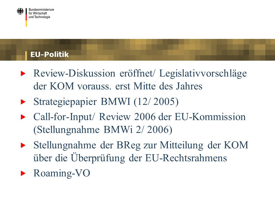 Strategiepapier BMWI (12/ 2005)