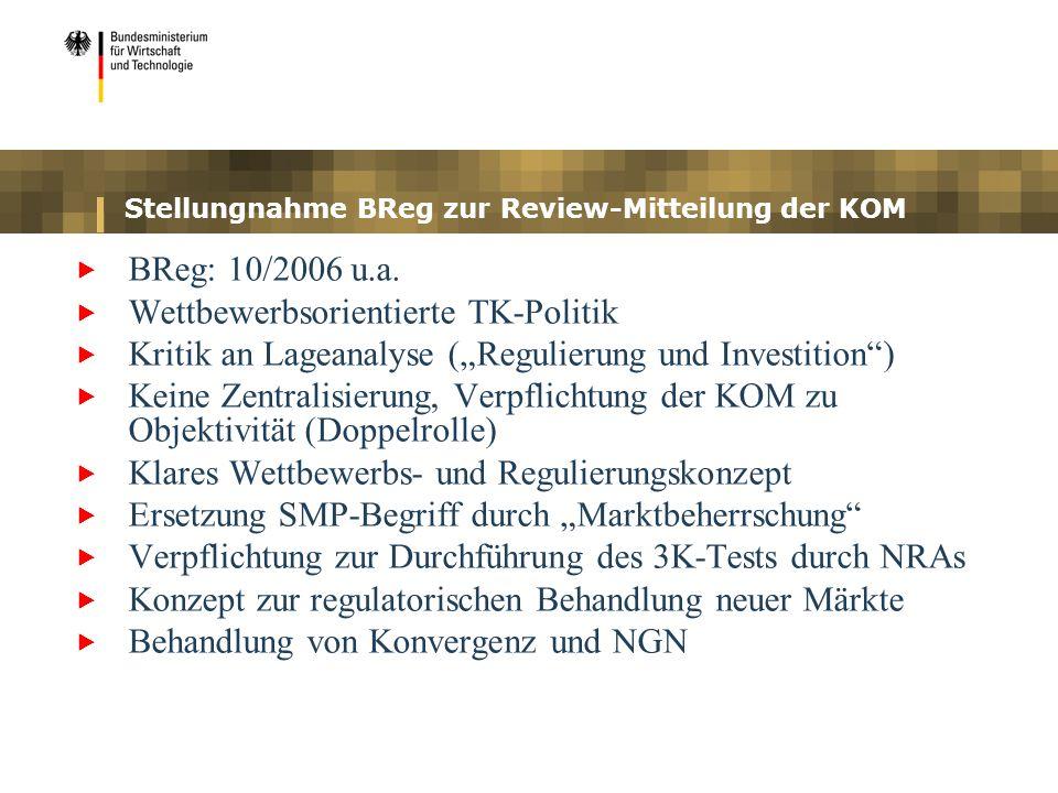 Stellungnahme BReg zur Review-Mitteilung der KOM