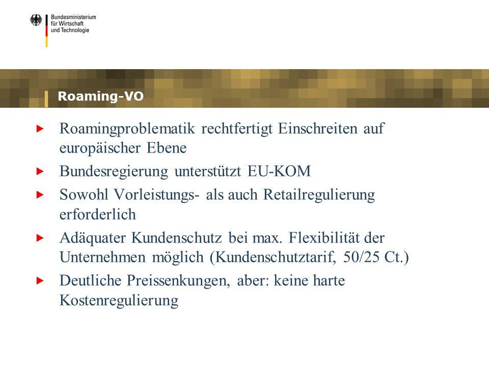 Roamingproblematik rechtfertigt Einschreiten auf europäischer Ebene