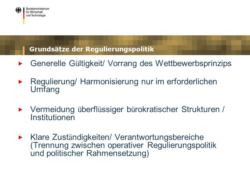Grundsätze der Regulierungspolitik