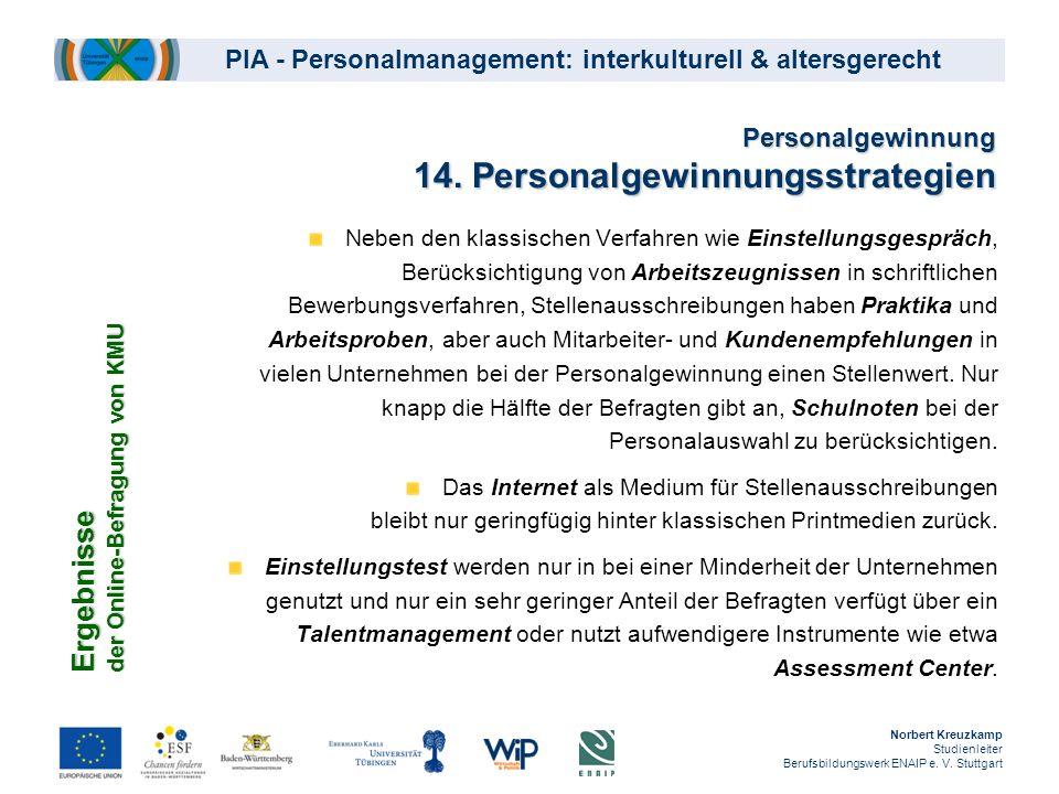 Personalgewinnung 14. Personalgewinnungsstrategien