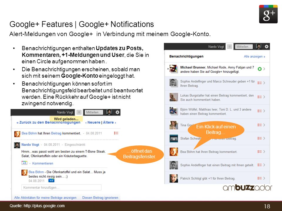 Google+ Features | Google+ Notifications