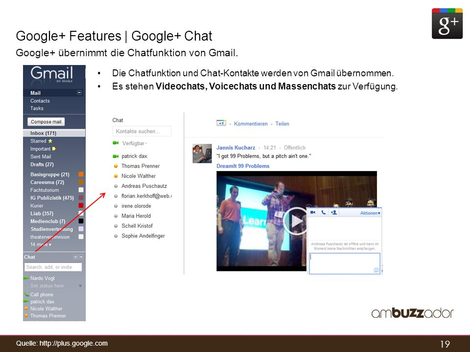 Google+ Features | Google+ Chat