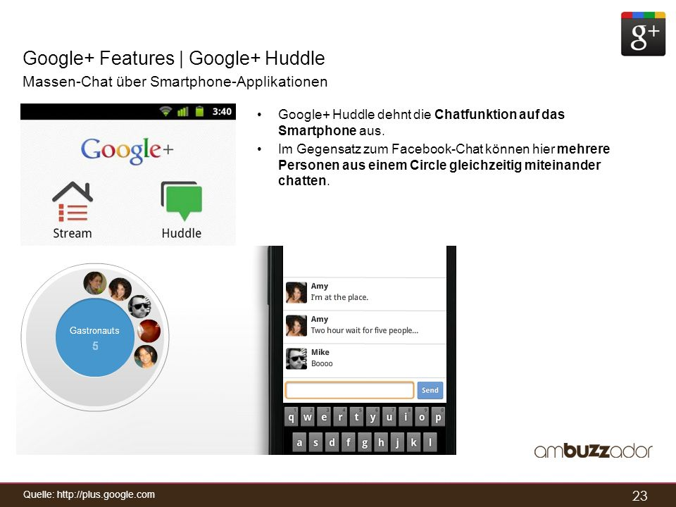 Google+ Features | Google+ Huddle