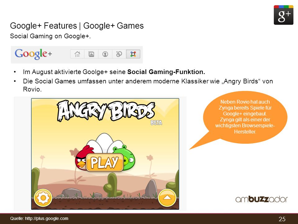 Google+ Features | Google+ Games