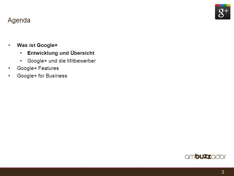 Agenda Was ist Google+ Entwicklung und Übersicht