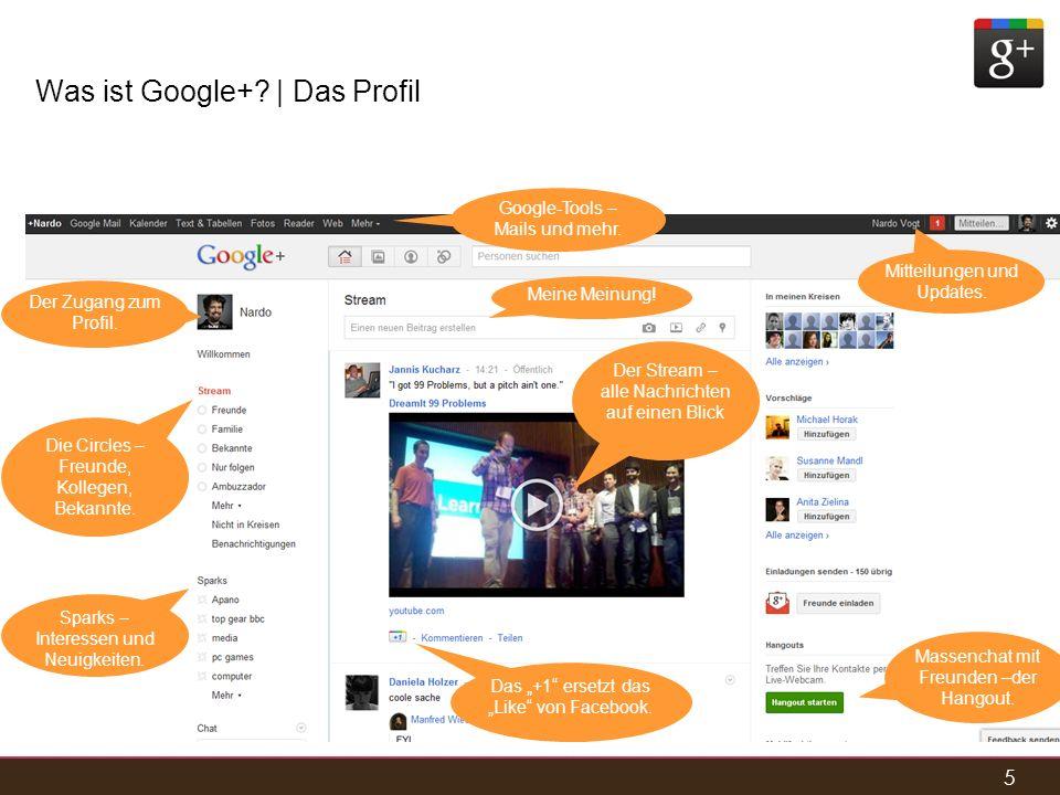 Was ist Google+ | Das Profil